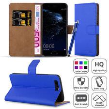 Fundas con tapa Para Huawei P8 lite color principal azul para teléfonos móviles y PDAs