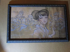Hyakki Yakou 2009 Framed by Audrey Kawasaki Signed Numbered Giclee Print