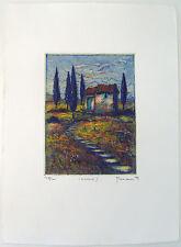 Cascina II Gerhard Messemer original Farbradierung handsigniert (mes0014)