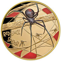 Niue 2018 Deadly & Dangerous Red-Back Spider $100 1 Oz Gold w/ Color MINTAGE 150