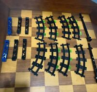 LEGO LOT Train Misc Parts BLACK TRACK CURVED NARROW #85976 95347 48002 Legos