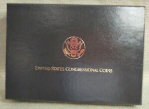 1989 6 Coin Gold & Silver Congressional Set Cherry Box w/COA 210426