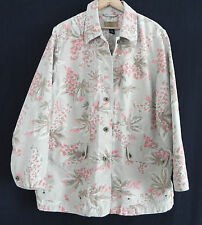 Jones New York Signature Jacket  Size 2 XL Heavy Cotton Floral on Tan