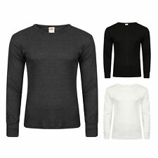 MENS LONG SLEEVED THERMAL VEST TOPS.  BLACK, WHITE AND CHARCOAL IN ALL SIZES.