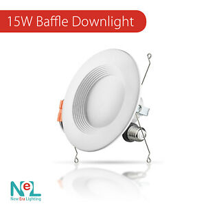 1-72 X 5/6 inch 15W Recessed DownLight Baffle LED Dimmable Retrofit