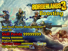 Borderland 3 PS4 Max Skill Points Money Eridium Level Keys Boosting
