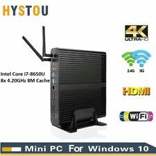 Hystou Mini PC i7 8650U 8x Core 4.20GHz Win10 4K 16GB RAM 128G SSD 1.73Gbps Wifi