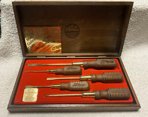 Mac Tools Limited Edition 24K Gold Plated 5pc Screwdriver Set 1986