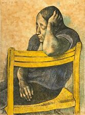 """FRANCISCO ZUNIGA """"MUCHACHA EN UNA SILLA"""" 1982 