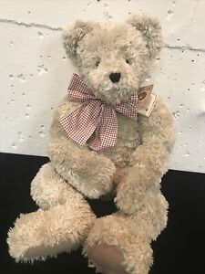 """Boyds Bear Red Checker Bow 30 """" H. B. Heirloom Collection Hector Hugsley w/ Tag"""
