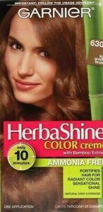 1 Garnier Herbashine Hair Color Creme Bamboo Extract 630 Light Golden Brown