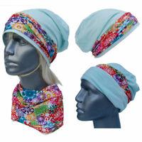Cool4 Beanie Mint Colourful Floral Kopftuch-Look - 2erSet Chemo Turban SBK06