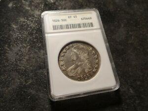 1826 ANACS XF 45 Capped Bust Half Dollar Old School Holder SLABZ