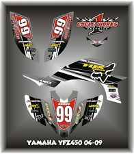 Yamaha YFZ 450 04-09  SEMI CUSTOM GRAPHICS KIT Beast