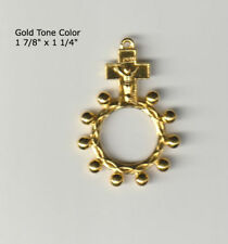 Rosary Ring from Italy In Bright Gold Color