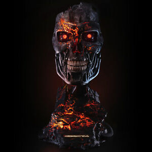 PureArts Terminator 2 Battle Damaged T-800 Life-Size 1:1 Scale Art Mask Bust