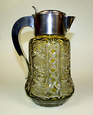 Pitcher-Cooler. Cut Glass. Metal Silver Plated. Spain. Circa 1920.