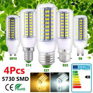 4 Pcs Ampoule LED E27 B22 E14 G9 GU10 Lampe de Maïs Blanc Chaud Froid SMD5730