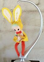 Vintage NAPCO Sitting Felt Pixie Elf Easter Bunny Ornament Shelf Elf Japan 9""