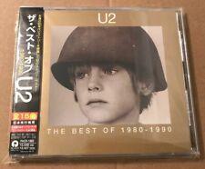 U2 - The Best Of 1980-1990 Rare Japanese Cd Album OBI Strip +Lyric Sheet