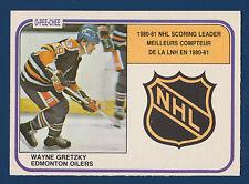 WAYNE GRETZKY SCORING LEADERS 81-82 O-PEE-CHEE 1981-82 NO 384 NRMINT  10475