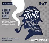 ARTHUR CONAN DOYLE - SHERLOCK HOLMES 1-DIE MONOGRAPHIEN  5 CD NEW