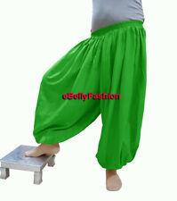 Cotton Harem Pants Belly Dance Yoga Pantaloons Trousers Aladdin Baggy Halloween
