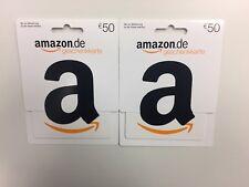 2x 50€ Amazon Gutschein Original