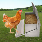 Chicken Feeder  Automatic Treadle Self Open Aluminium Feed Chook Poultry