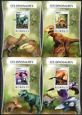 D{026} DJIBOUTI 2016 DINOSAURS SET OF 4 S/S DELUXE MNH**