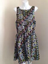 NEW LADAKH Black & Blue Floral Dress - 12 - One 4 Spring Summer Beach Season