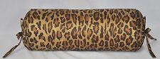 NEW Ralph Lauren Venetian Leopard Animal Print Fabric Custom Neck Bolster Pillow