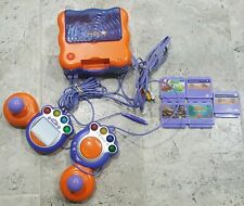VTECH VSMILE GAME CONSOLE WITH 2 LARGE CONTROLLERS AND 5 GAMES!!!