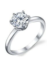 925 Wedding Engagement Ring Sz 4-11 1.25 Carat Cubic Zirconia Cz Sterling Silver