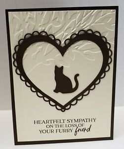 Handcrafted Greeting Card - Pet Sympathy - Cat