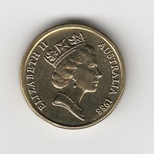 1988 (UNC) AUST TWO DOLLAR $2 COIN - BRILLIANT UNCIRCULATED COIN FROM MINT ROLL