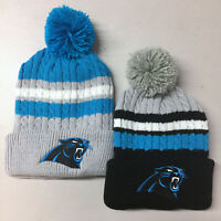 Carolina Panthers Pom Pom Beanie Skull Cap Hat Embroidered