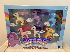 MY LITTLE PONY RETRO RAINBOW MANE 6 PONIES NEW IN BOX