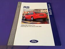 Ford RS Rallye Sport Brochure 1992/1993 - UK Issue inc Escort & Sierra Cosworth