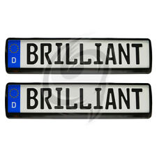 PORSCHE 2x BRILLIANT NOIR LOOK Support de plaque d'immatriculation
