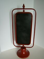 2-Sided Rotating Blackboard On Red Metal Stand For Messages Or Menus