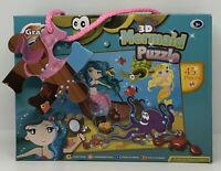 JIGSAW 3D MERMAID PUZZLE 45 PIECES NEW & FACTORY SEALED