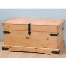 Aufbewahrungs Truhe New Mexico Mexiko massiv Kiefer Holzkiste Box gelaugt
