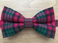 Corbata de Moño   Metálico Rojo Y Verde Tartán Pajarita   Brillante Brillante Corbata De Moño