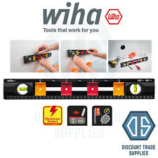 Wiha 42074 Electrician's Spirit Level Ruler 40cm Easy to mark back boxes Free P&
