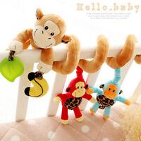 Infant Baby Kids Soft Developmental Hanging Lovely Animal Plush Rattle Toys