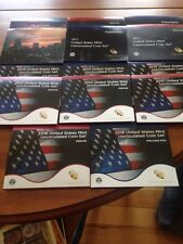 2010-2017  US Mint Unc Sets (28 Coins Each Set )Except 2016 (26) 2017 (20)