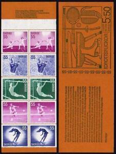 Sweden 914-918a booklet,MNH.Mi 737-741 MH 31. Women Athletes,1972.Fencing,Diving