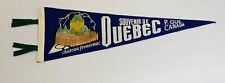 """Vintage Souvenir De Quebec 1950-60's 20"""" Felt Pennant w Chateau Frontenac VG"""