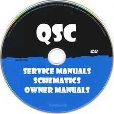 QSC Hifi Service Owner Manuals & Schematics- PDFs on DVD - Huge Collection